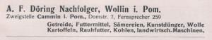 Heimatkalender Des Kreises Cammin 1930 8c