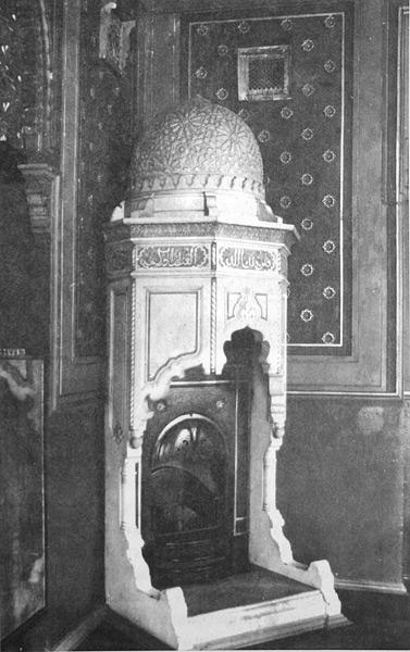 Камин в бывшем кабинета Ф. К. Сан-Галли Фото 1980-х гг.