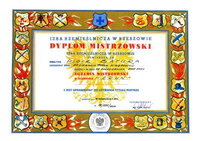 Dyplom Piotr Batura