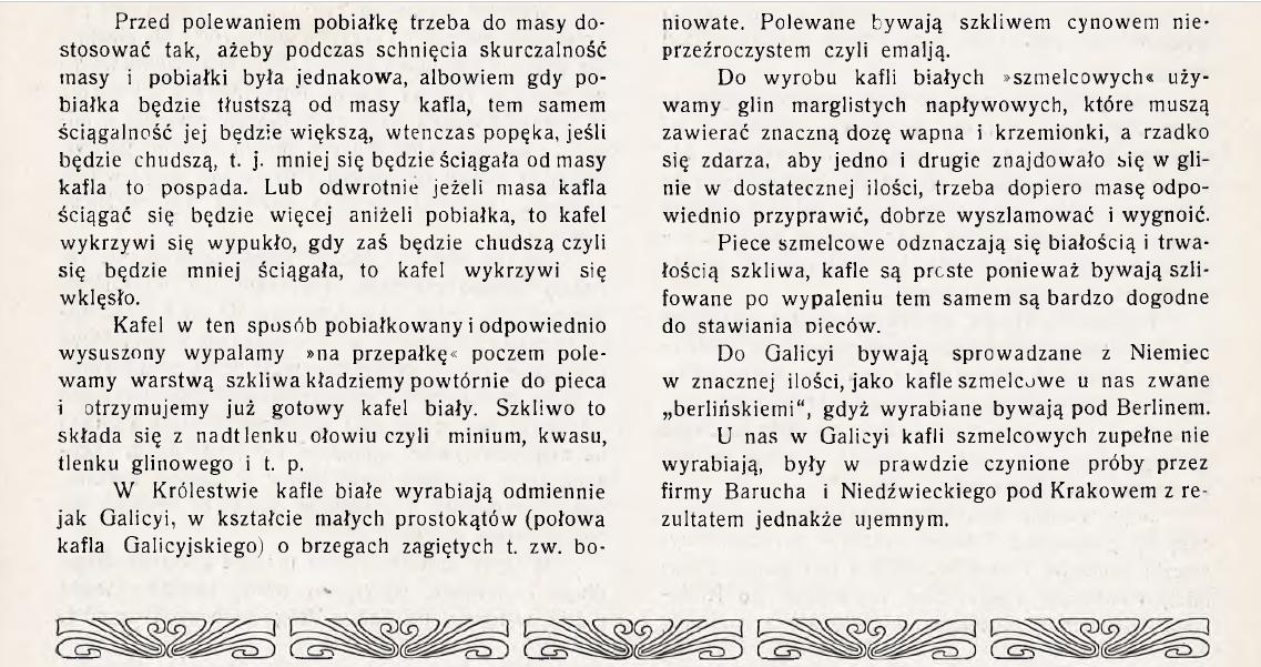 Polewanie kafli białych 1911 2