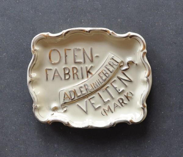 Aschenbecher Ofenfabrik Adler Inh. Ebert Velten(Mark)