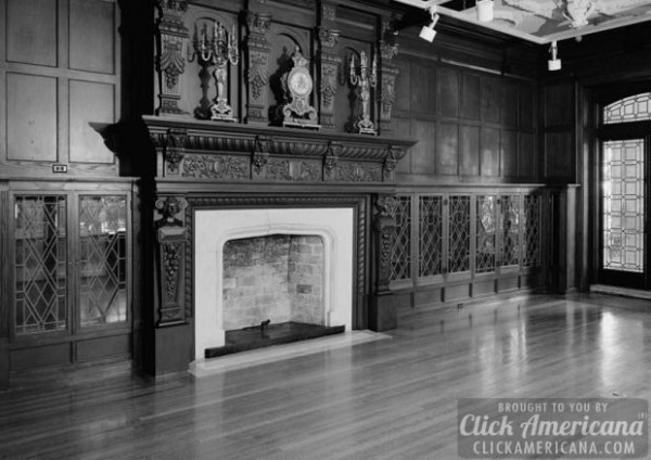 pic-1986-VIEW-FROM-NORTHEAST-IN-LIBRARY-NORTHWEST-ROOM-SHOWING-FIREPLACE-AND-BUILT-IN-BOOKCASES-R.-A.-Long-House-3218-Gladstone-Boulevard-Kansas-City-Jackson-County-MO